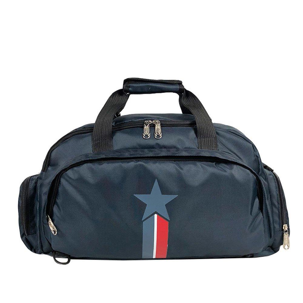 Yangjiaxuan Multifunctional Fitness Sports Bag Polyester Large Capacity Shoe Warehouse Hand Shoulder Bag (Color : Dark blue)