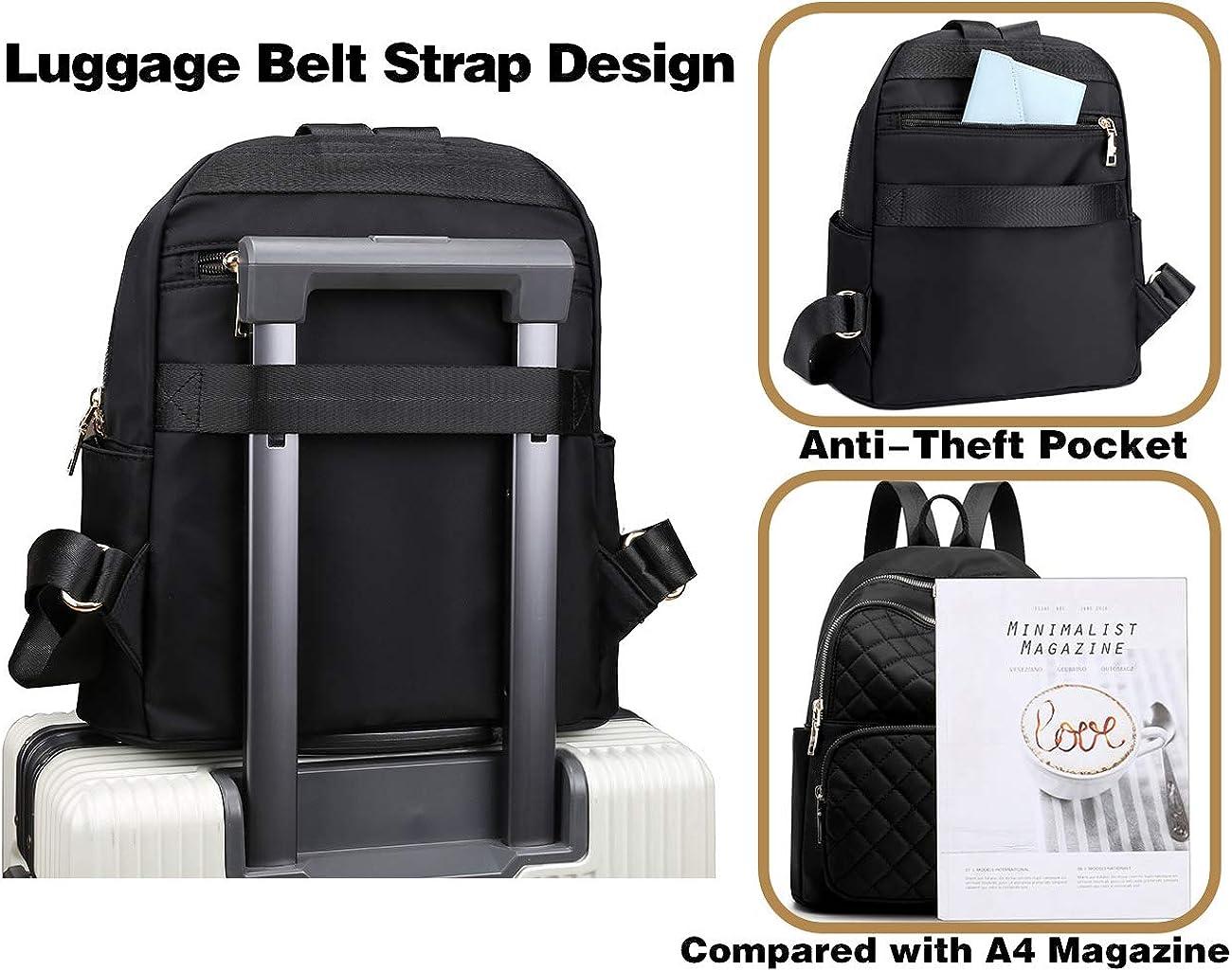 Women Backpack Purse Waterproof Nylon Anti-Theft Rucksack Lightweight Schoolbags Casual Travel Bag