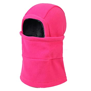 60af3c4ff0d AONIJIE Children Kids Outdoors Skiing Cycling Winter Hats Fleece Beanies  Family Caps Face Mask Balaclavas Deep Blue
