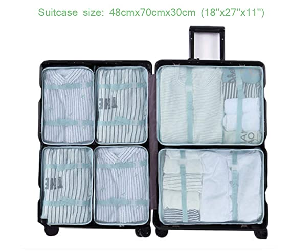 b10ee45138b6 Amazon.com: Sarazong Pack of 6 Packing Cubes,Waterproof Packing ...