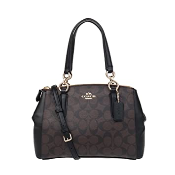 Buy Coach Signature Mini Christie Women s Carryall Satchel (Brown Black)  Online at Low Prices in India - Amazon.in f7d0e778830e0
