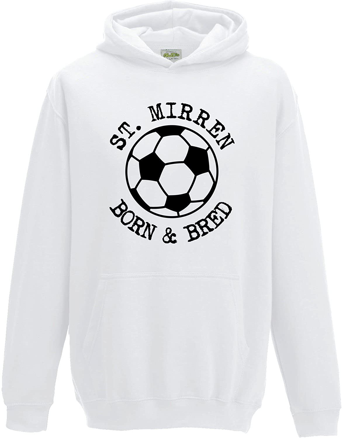Hat-Trick Designs St Mirren Football Baby/Kids/Childrens Hoodie Sweatshirt-White-Born & Bred-Unisex Gift