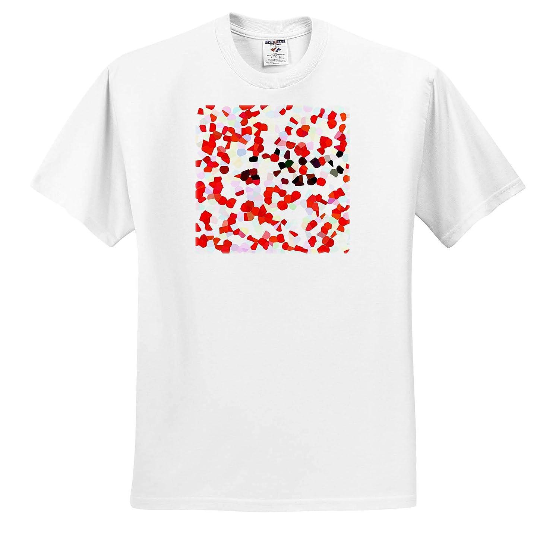 3dRose Kike Calvo Mosaics and Art Designs Abstract Strawberry and Cherry Cake Inspired Mosaic T-Shirts