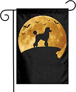 Poodle Dog Halloween Garden Flags Outdoor Decorative Flag Banners 12 X 18 Inches