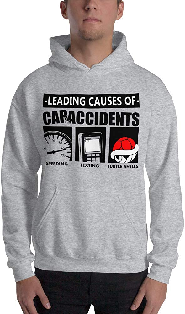 Leading Causes of Car Accidents Speeding Cell Texting Turtle Shells Video Games Gamer Unisex Hoodie