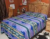 Mission Del Rey's Western Chevron Bedding Collection -Purple Sage Bedspread (Queen 88''x96'')