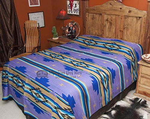 Style Bedspread Ranch (Mission Del Rey Western Chevron Bedding Collection -Purple Sage Bedspread (Queen 88