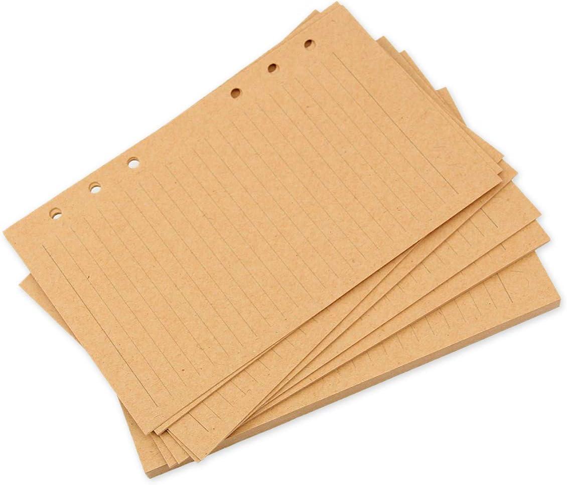 SCSpecial A5 Bastelpapier 80 Blatt Binder Papier Planer Einlagen f/ür 6-Loch Journal Notebook