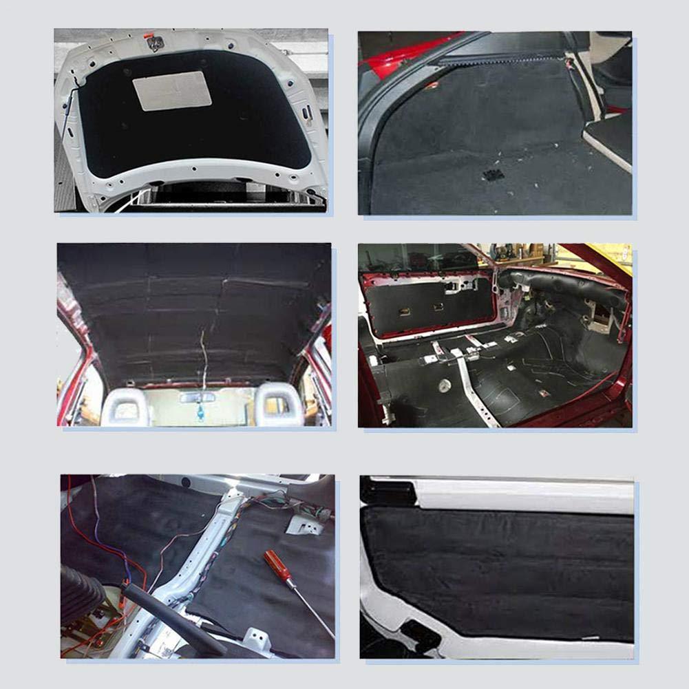 F/ür Auto Auto Raum Schwarz su-luoyu 8mm D/ämmmatte Selbstklebend Auto Schallschutz Baumwolle Schallschutzmatte Isolierunterlage