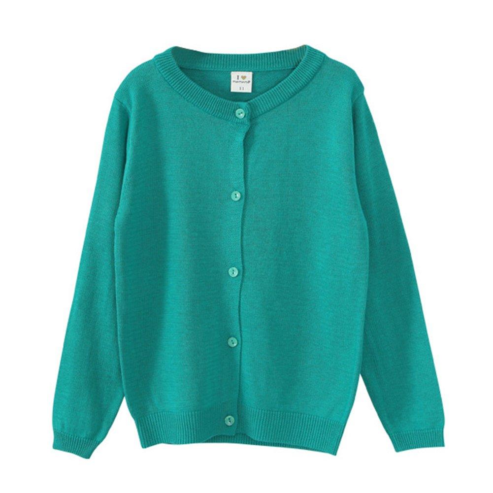 Little Girls Crewneck Cardigan Long Sleeve Children Button Cotton Sweater Uniform Sweaters for Girls