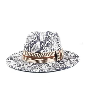 QiuKui Gorra de vaquero y sombrero de copa, Lanas de la manera ...