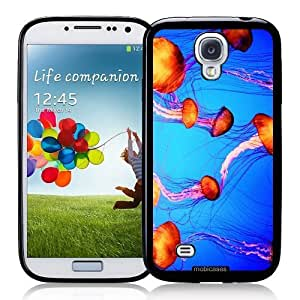 Cool Painting Jellyfishes Swimming - Protective Designer BLACK Case - Fits Samsung Galaxy S4 i9500