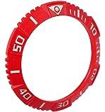Lotus Uhren Ersatzteil Lünette Bezel Kunstoff in verschiedenen Farben L15778, Farbe:rot