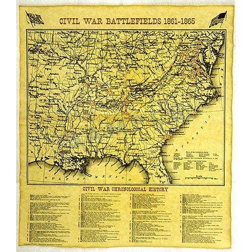 Civil War Battle Map 1861-1865 Replica Document