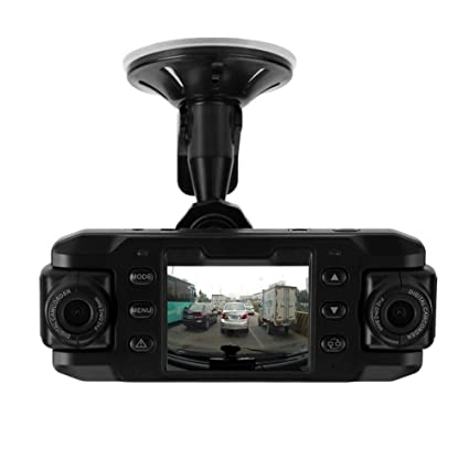 2.4in 140° Car DVR Camera Dual Lens Video Recorder Dash Cam G-sensor GPS Logger