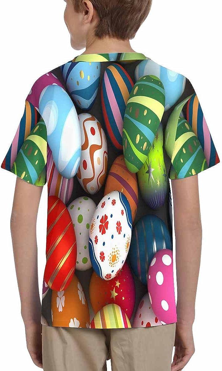 XS-XL INTERESTPRINT Kids T-Shirts Easter Eggs