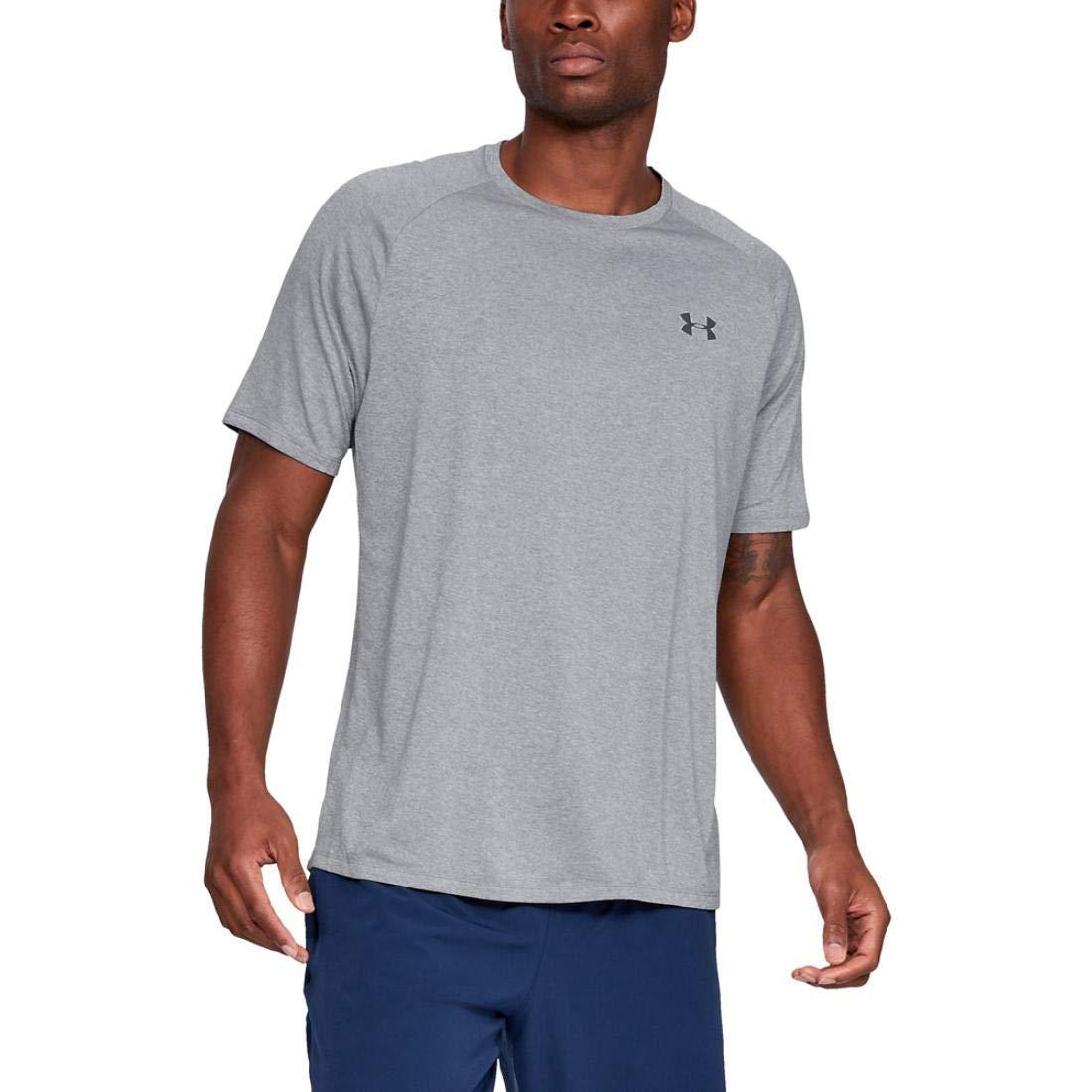 Under Armour Men's UA Tech Short Sleeve Tee 2.0, Steel, XS-R