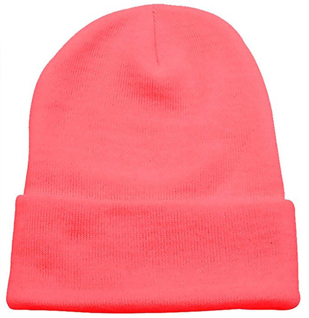 PZLE Bubble Gum Pink Beanie Black Skull Cap Knit Beanie Black Beanie Slouch Hats Bubble Gum Pink
