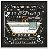 Wall Plaques For Bathroom. Stupell Home Decor Tranquility Tub Icon Textual Bathroom Art Wall Plaque  5 X