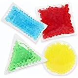 4 Pack Bean Bags Fidget Toys for Sensory Kids with Water Beads, Desk and Preschool Toys with Different Shapes for Stress and Anxiety Relief, Sensory Toys that Develops Tactile and Fine Motor Skills