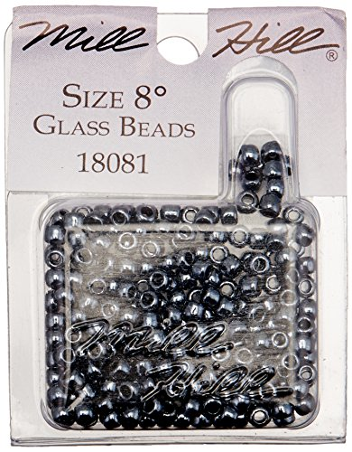 - Mill Hill Glass Beads Size 8/0 3mm 6.0 Grams/Pkg-Jet