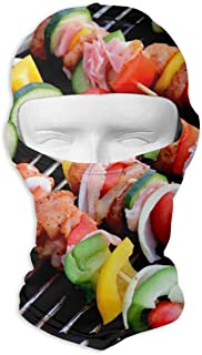 YISHOW Onion Barbecue Bacon Meat Skewer Men Women Balaclava Neck Hood Full Face Mask Hat Sunscreen Windproof Breathable Quick Drying