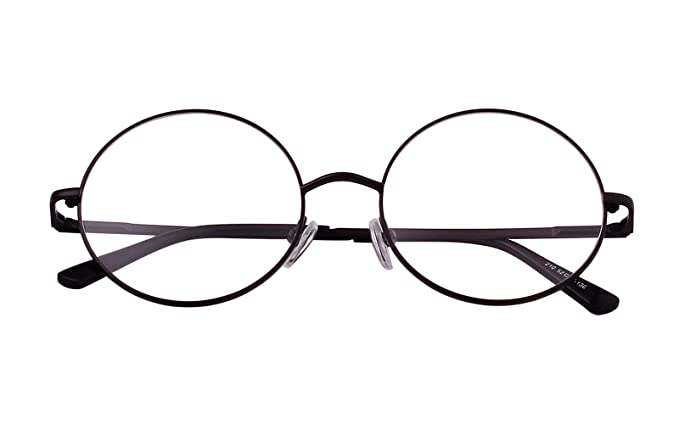 39276e4686 Agstum Retro Round Prescription ready Metal Eyeglasses Frame 51mm (X-Large  Size) (