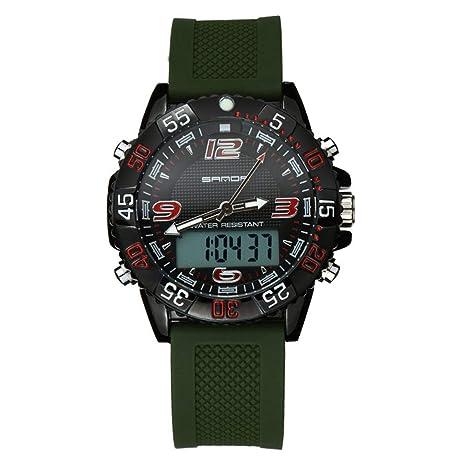 DSADDSD   Reloj Digital Impermeable para Hombre Reloj Deportivo Impermeable  Reloj electrónico y Casual Luminoso cronómetro b878e1d0e660
