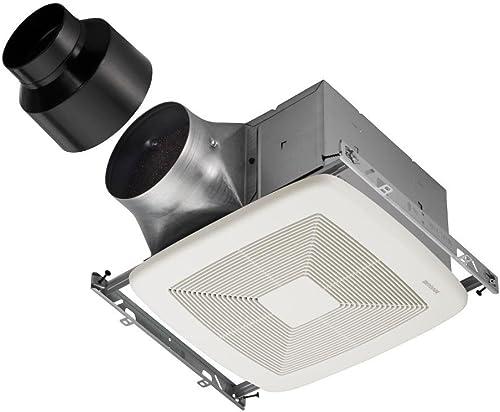 Broan-Nutone XB80 ULTRA GREEN Series Single-Speed Fan, Ceiling Room-Side Installation Bathroom Exhaust Fan, ENERGY STAR Certified, 0.3 Sones, 80 CFM
