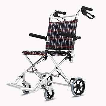 Carritos de la compra Silla de Ruedas para Ancianos BMX Carro Simple Walker Silla de Ruedas para Adultos Silla de Ruedas multifunción Luz Plegable Puede ...