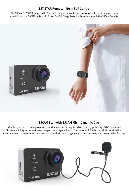 Sport Action Camera, Newest Original SJCAM SJ7 Star 1080P 4K Action Cam Waterproof Sport DV Camera (Rose Gold)