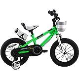 ROYALBABY(ロイヤルベイビー) 12インチ BMXスタイル 子供用自転車 幼児用自転車 キッズバイク フルカバーチェーンケース リアバンドブレーキ 取っ手付きサドル RB-Freestyle
