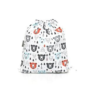 Milutka Chaussons Bébé Sac/sac de sport pour enfants Ours