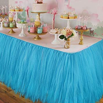 Wedding Table Skirt Decoration Accessories Tulle Tutu Baby Shower Birthday Party Decorations Kids
