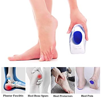 c713b886905 Amazon.com  Supcare Gel Heel Cups Plantar Fasciitis Inserts
