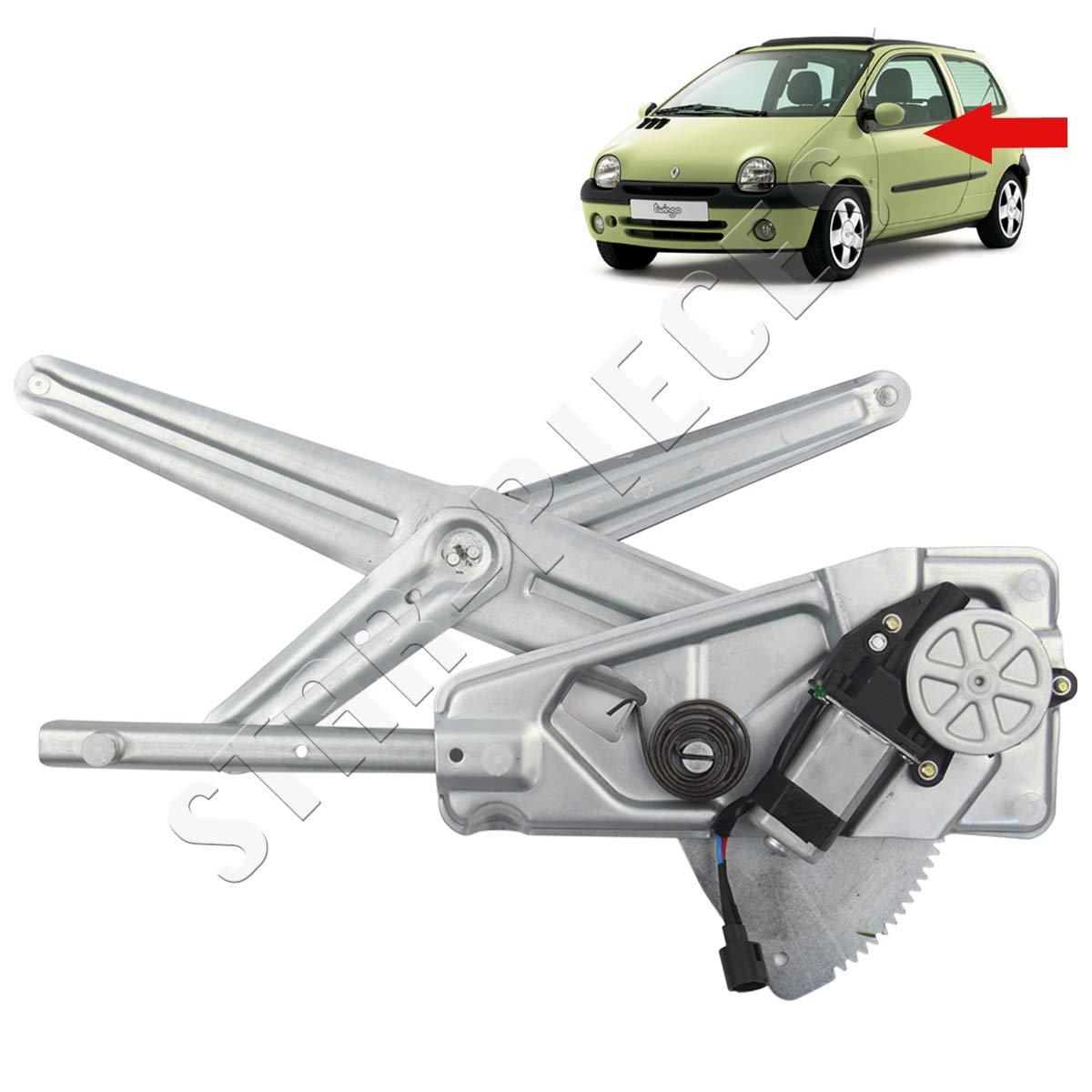 STARKIT PERFORMANCE Mecanismo elevalunas el/éctrico Delantero Izquierdo con Motor para Renault Twingo 1 de 1993 a 2007.