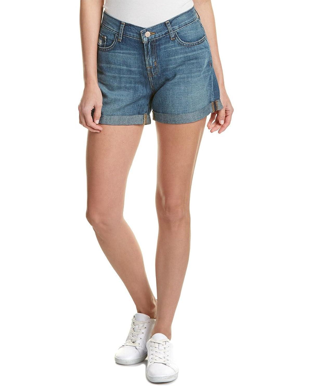 J Brand Womens Joey Westerly Linen-Blend Short, 23, Blue