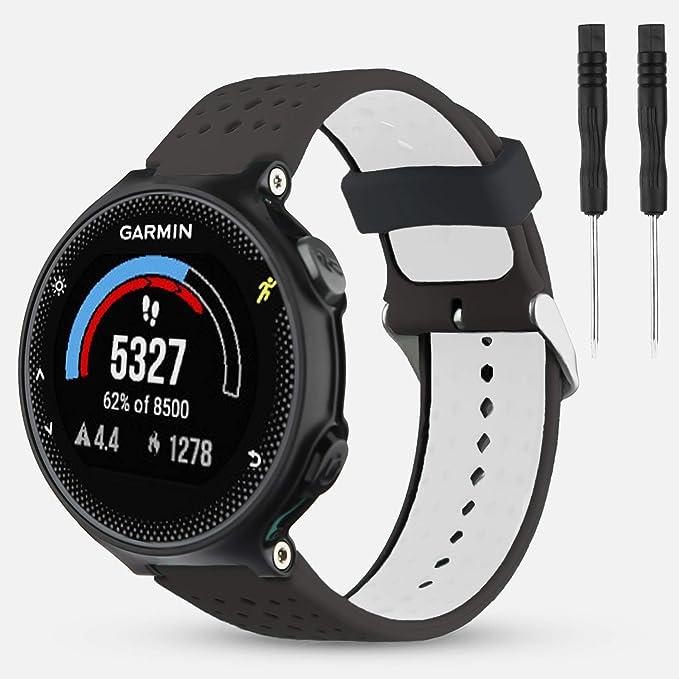 Amazon.com: Garmin Forerunner dos colores silicona banda de ...