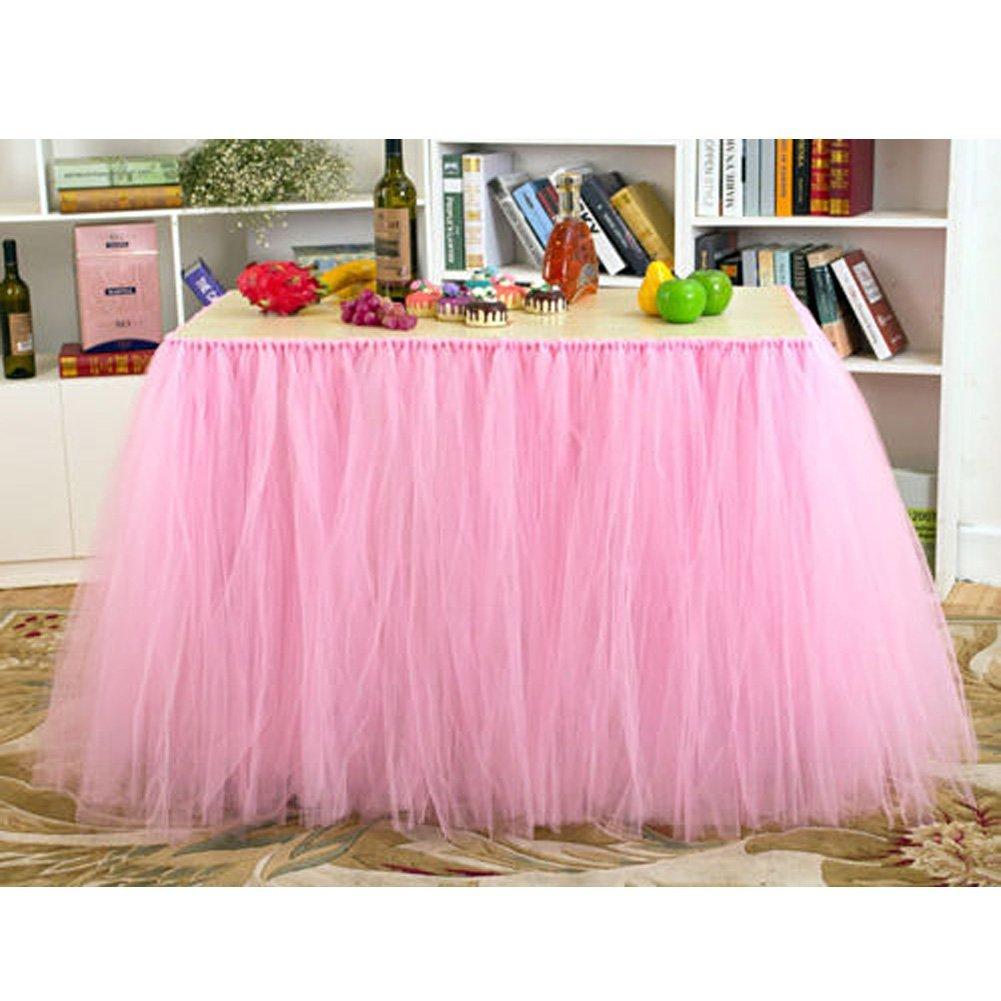 Amazon.com: AerWo Tutu Table Skirts Tulle Queen Snowflake Wonderland ...