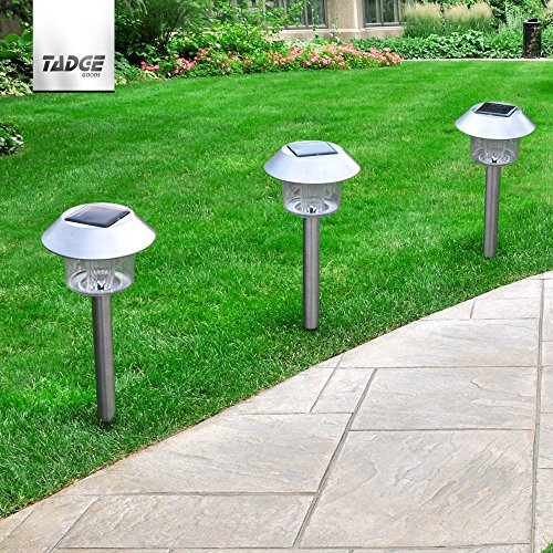 Outdoor Patio Ground Lights: LED Solar Lights Outdoor Landscape Pathway Lighting