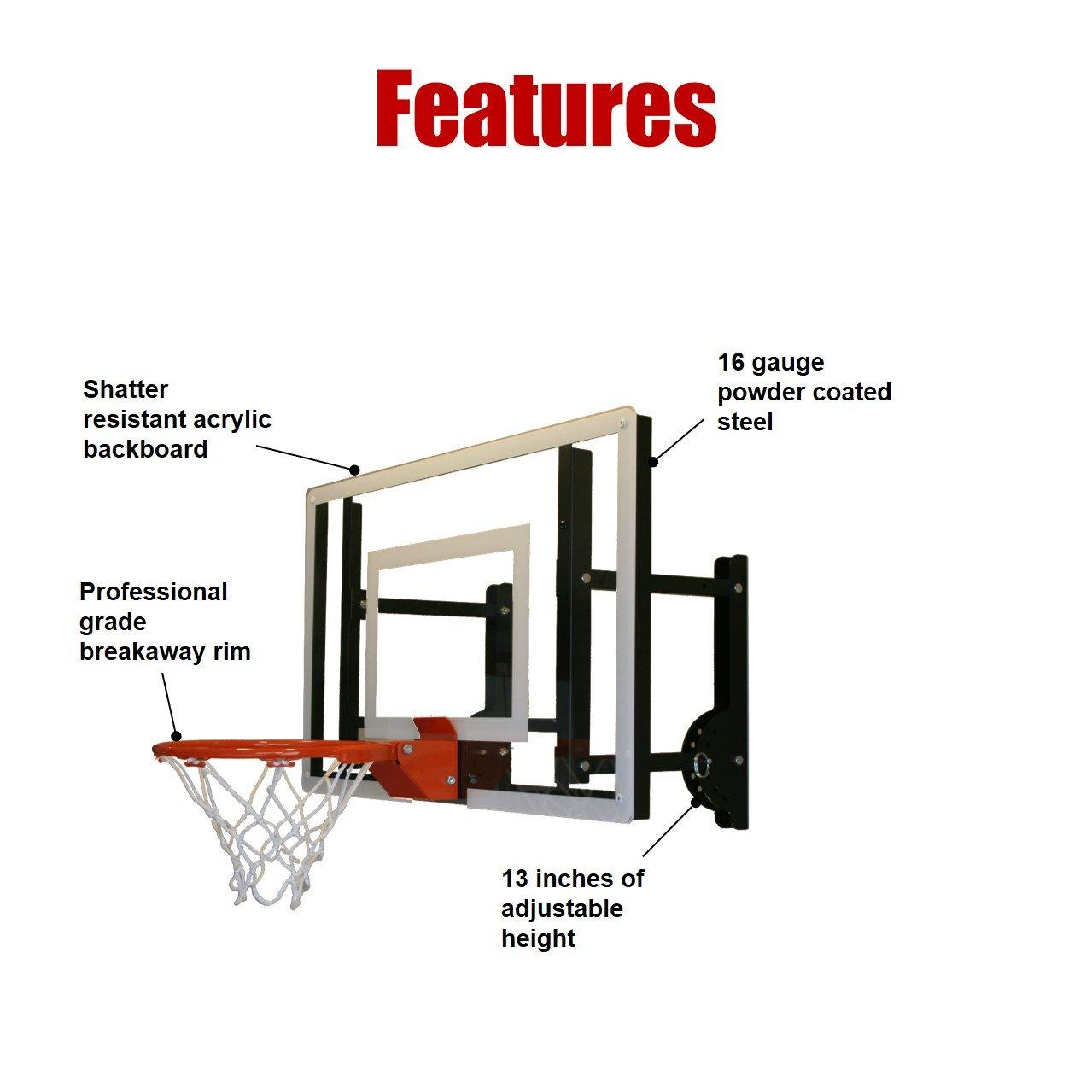 Amazon.com : RAMgoal Durable Adjustable Indoor Mini Basketball Hoop and  Ball : Sports & Outdoors