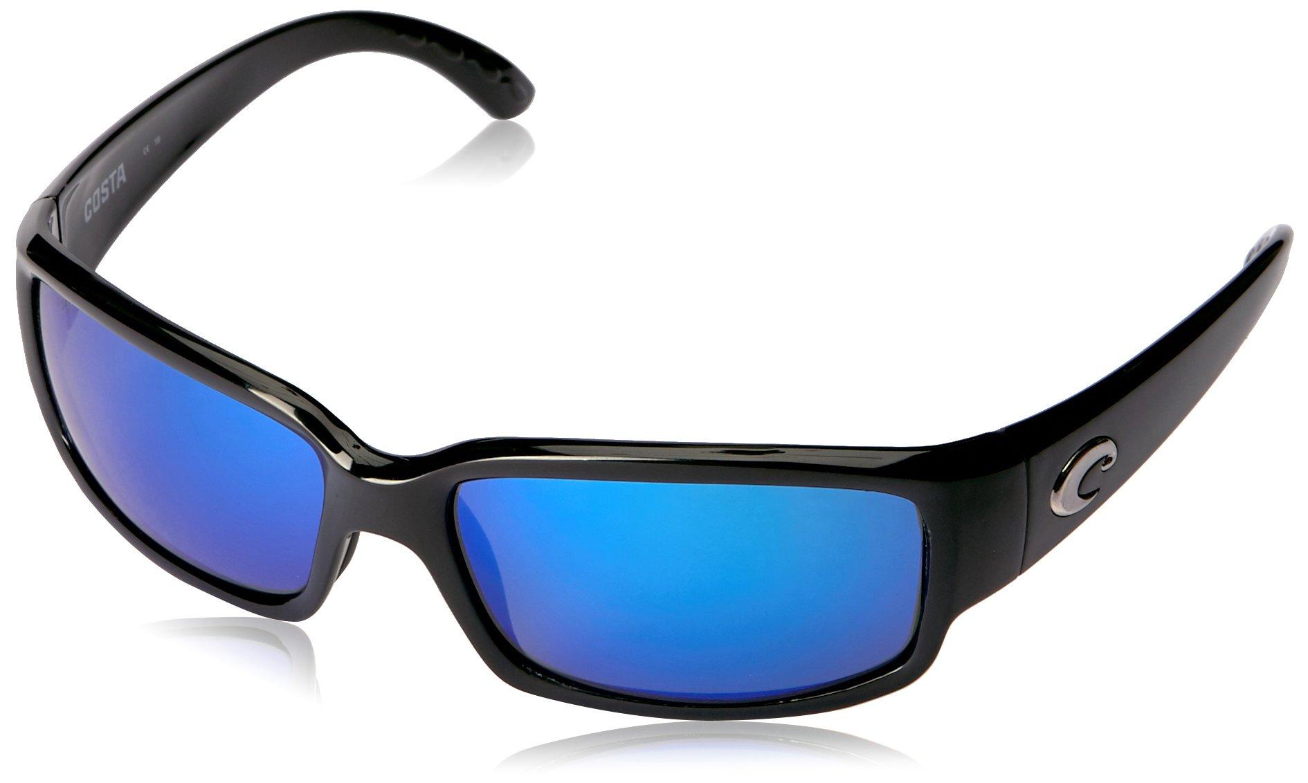 Costa del Mar Unisex-Adult Cabalitto CL 11 OBMGLP Polarized Iridium Wrap Sunglasses, Black, 59.2 mm