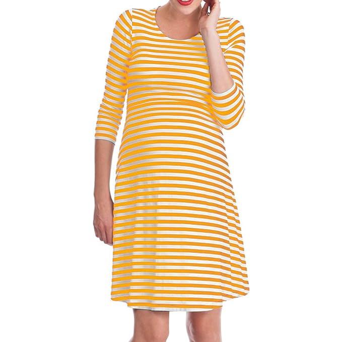 WEIMEITE Vestido de Lactancia Perfecto para Mujeres Vestido de Lactancia posparto Maternidad para Embarazadas: Amazon.es: Ropa y accesorios