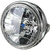 AUDEW 7インチ バイク 丸型 ヘッドライト H4バルブ マルチリフレクター ヘッドライト ランプ サイドマウントスタイル