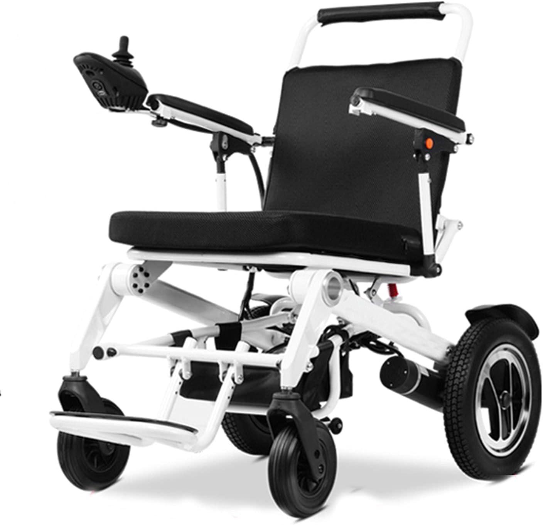RONG HOME Sillas de Ruedas eléctricas Plegables, Ligeras, pequeñas y discapacitadas, Scooters automáticos Inteligentes para Personas Mayores, Pueden Estar en el avión (12-60 km)