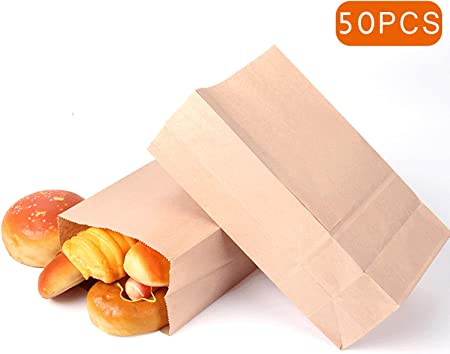 Tamaño: 13 x 8 x 24 cm.,[Excelente bolsa de papel marrón] cada bolsa de papel está hecha de papel kr