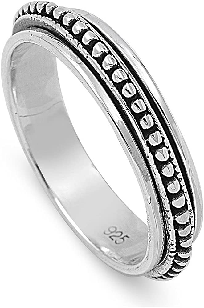 All Size  S58 Details about  /Solid 925 Sterling Silver Spinner Ring Handmade Woman Gift Ring