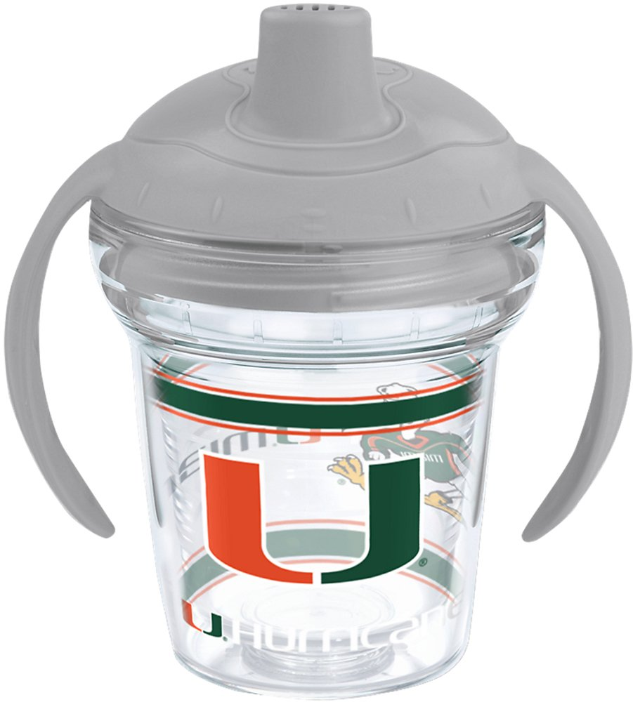 6 oz Clear Tervis 1204411 NCAA Miami Hurricanes Sippy Cup with Lid