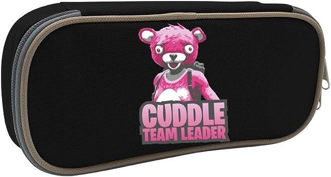 Estuche para lápices Fortnite rosa oso de gran capacidad estuche de papelería organizador de escritorio y oficina bolsa de maquillaje con cremallera: Amazon.es: Oficina y papelería
