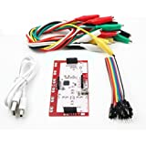 Steellwingsf Alligator Clip Jumper Wire Makey Makey Standard Controller Board Kit for Arduino (Red + White)
